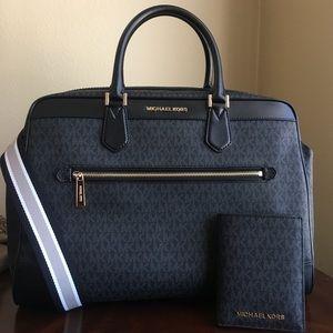 Michael kors duffel travel bag with passports case